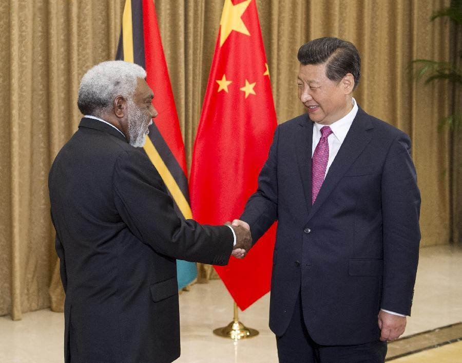 Chinese President meets with the President of Vanuatu