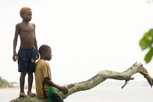 Two boys from Mele village vanuatu