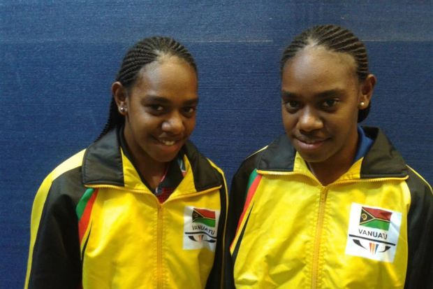 vanuatu table tennis players commonwealth games