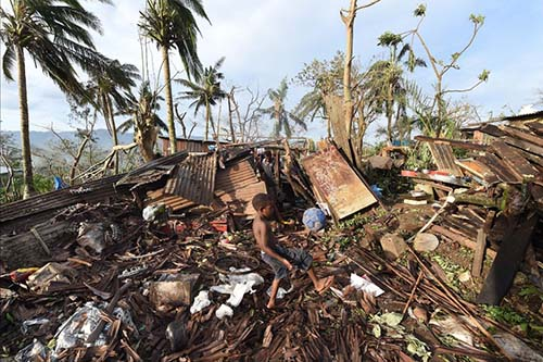 The destruction caused by the cyclone PAM - this WAS someone's home!
