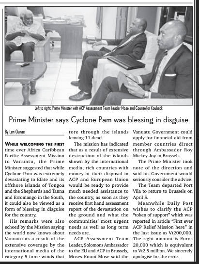 PM says blessing in disguise