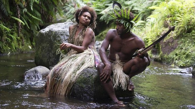 Tribal film ... Dain and Wawa in Tanna which depicts a controversial relationship