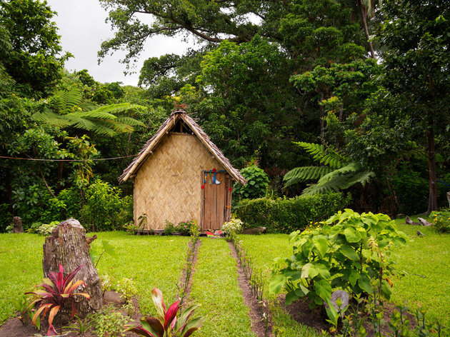 WHITWORTH IMAGES VIA GETTY IMAGES A traditional thatched bungalow in a local village.