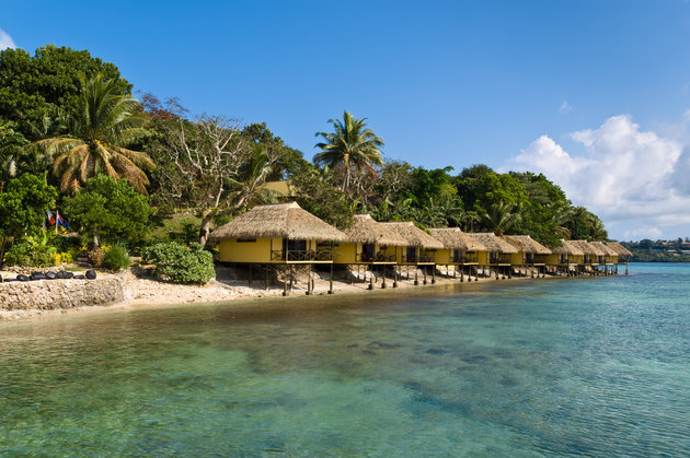 HOLGER METTE VIA GETTY IMAGES On the smaller Iririki Island, bungalows offer perfect waterfront views.