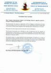 Letter from the Vanuatu Prime Minster