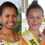Miss PNG (L) and Miss Vanuatu (R)