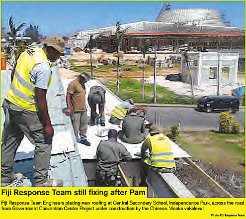 Fiji Response Team after Cyclone Pam