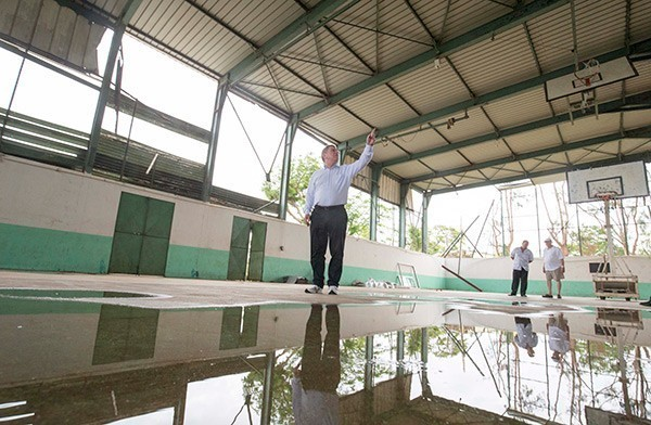 Reparing facilities damaged by Cyclone Pam, and visited by IOC President Thomas Bach earlier this month, will also have been up for discussion at the General Assembly ©IOC/Ian Jones