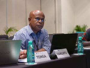 Ministry of Agriculture, Livestock, Forestry, Fisheries, and Biosecurity (MALFFB), Director General Howard Aru during the Pacific Agriculture Policy Project Meeting in Nadi, Fiji, during the Pacific Community Agritourism Week