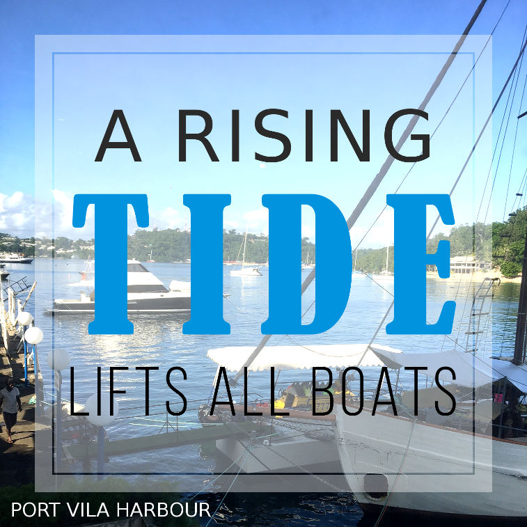 A rising tide will lift all boats
