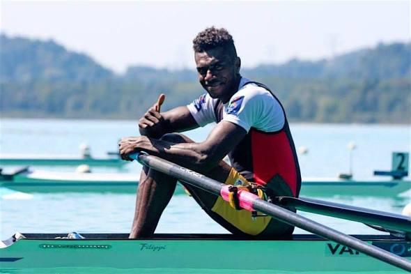 Vanuatu rower Luigi Teilemb has qualified to compete at the Rio Olympics this August. Photo: Vanuatu Rowing Association