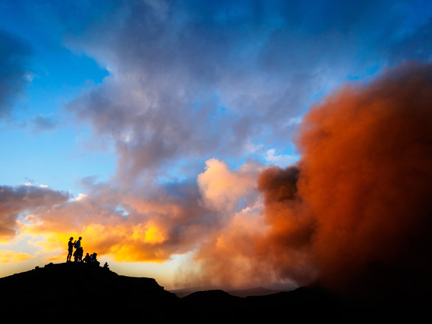 WHITWORTH IMAGES VIA GETTY IMAGES Mount Yasur volcano is continually active at a low to moderate level.