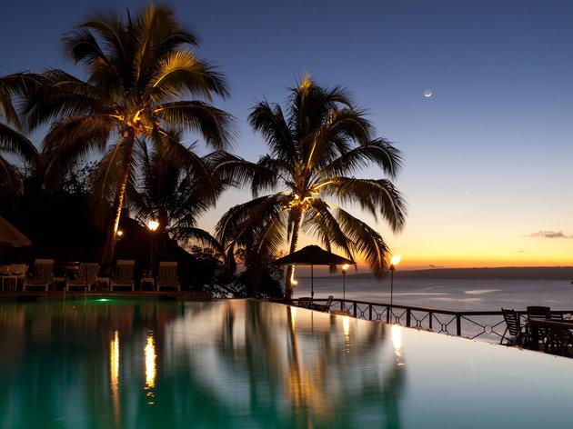 HOLGER METTE VIA GETTY IMAGES Sunset on Iririki Island.