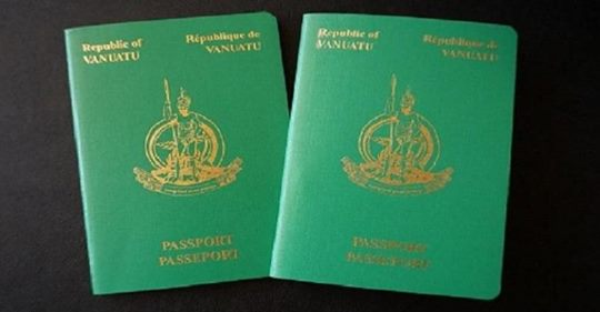 Vanuatu revenue soars from passport sales