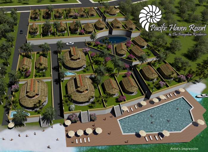 Pacific Haven Resort Artist Impression