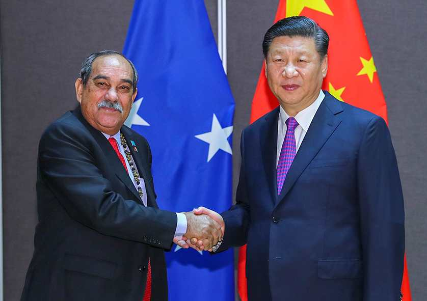 Chinese President Xi meets with leaders of seven Pacific island countries including Vanuatu
