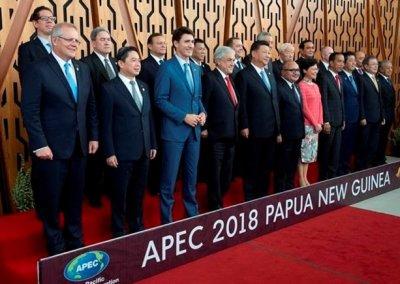 APEC leaders line up