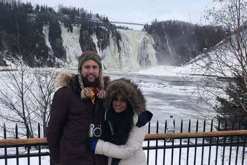Daniel and Amy in Quebec... Brrr!