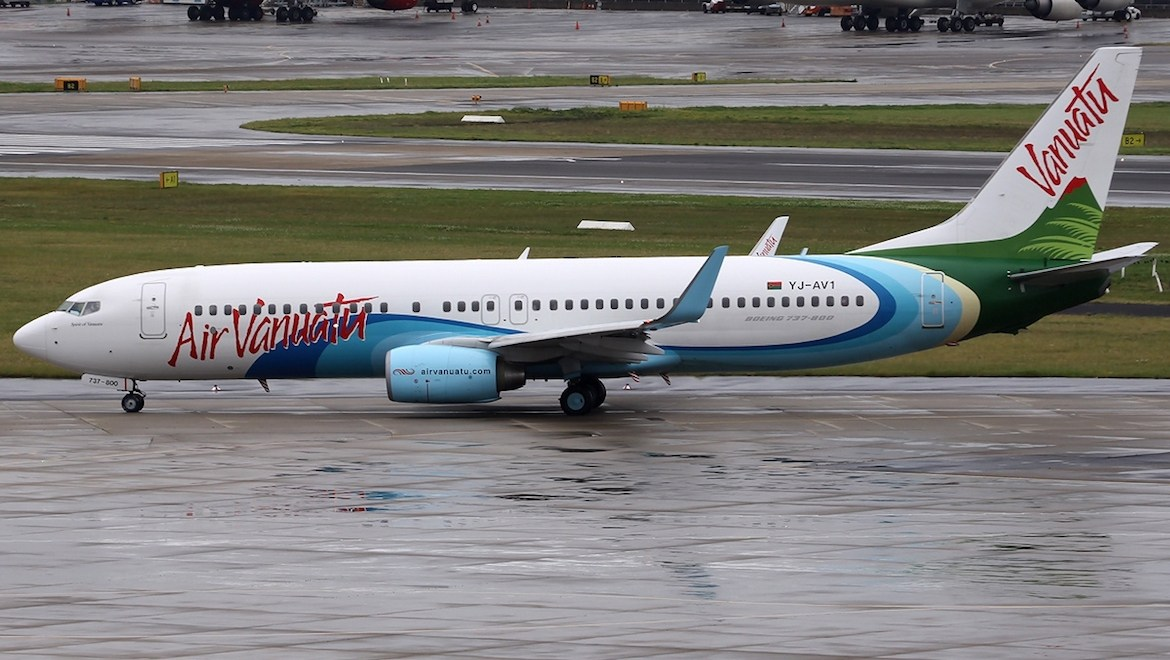 A file of an Air Vanuatu Boeing 737-800 (Wikimedia Commons/Paul Spijkers)
