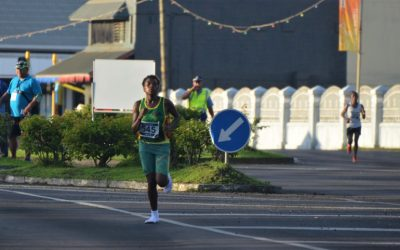 Vanuatu woman wins half-marathon in socks, no shoes
