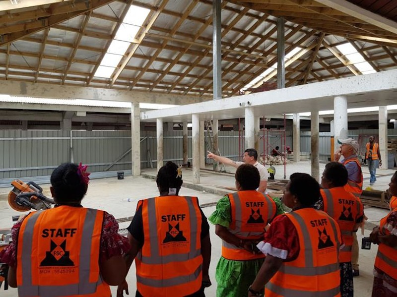 Port Vila Central Market Upgrade Underway