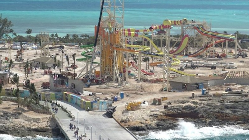 Perfect Day at Coco Cay under construction earlier in 2019