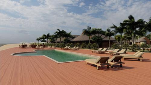 Pacific Haven Resort sea deck