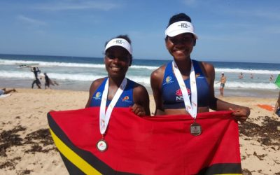 Vanuatu beach volleyball women's youngsters win silver