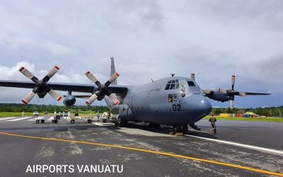 New Zealand Air Force Hercules flies to Vanuatu to assist with cyclone recovery