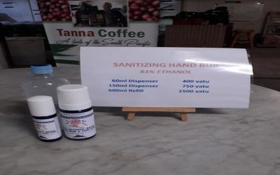 Vanuatu's first locally made sanitizer launched