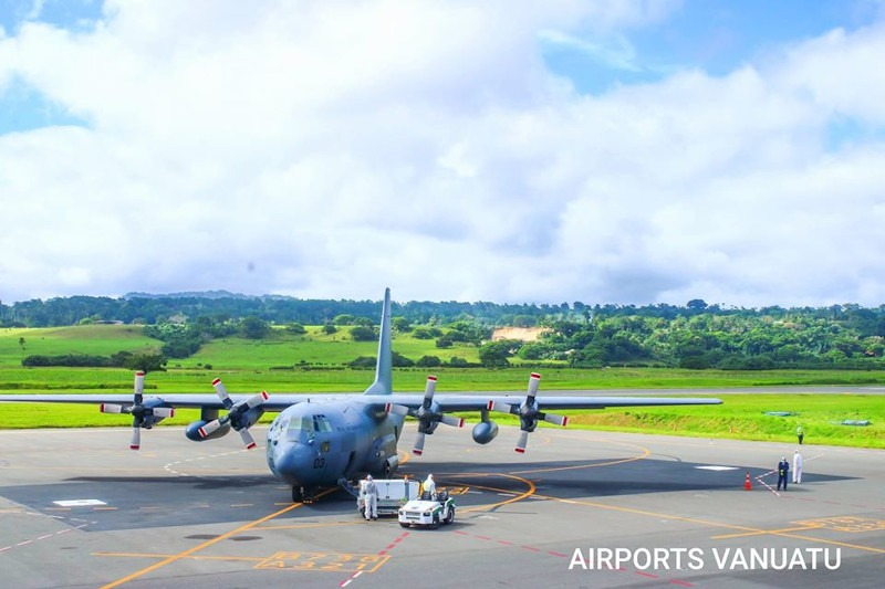 Vanuatu NDMO Approved RNZAF C130 Hercules repatriation flight