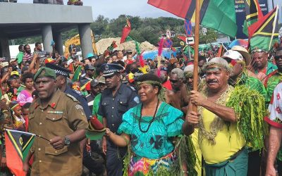 Thousands march through Port Vila to mark Vanuatu's independence