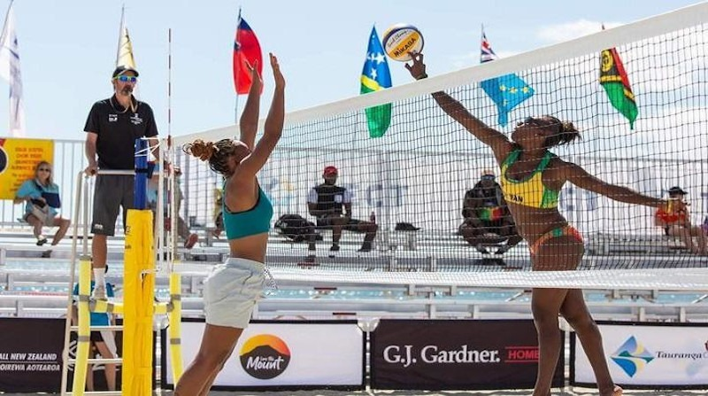 Vanuatu players boost community-based volleyball tournament