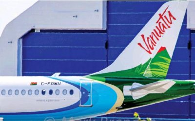 Air Vanuatu's First Airbus A220 Spotted In Canada