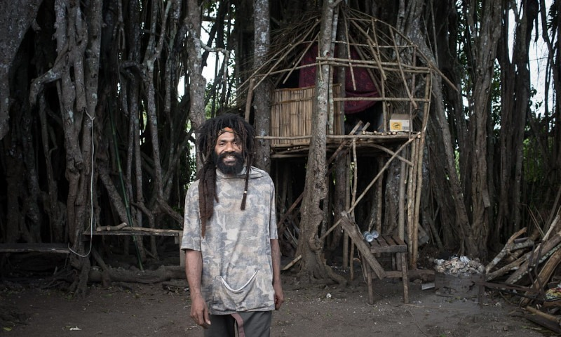 Vanuatu's treehouse troubadour on love, loss and language