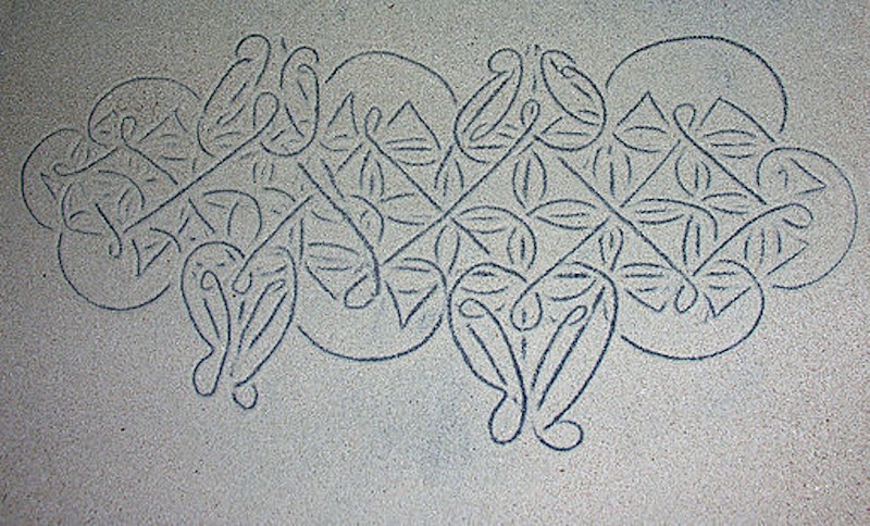 Sand drawing on the Vanuatu archipelago