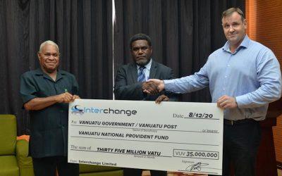 Interchange gives Vt35 million to shareholders