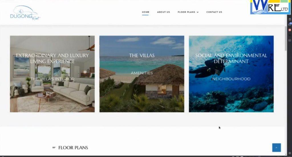 Dugong Resort Website