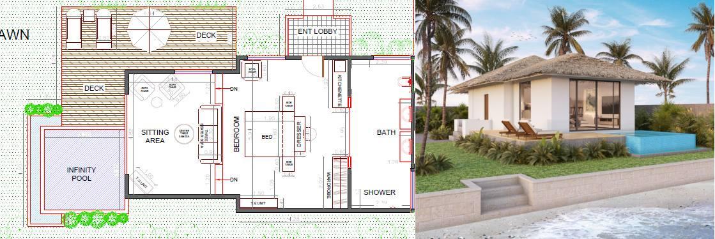 1-bed Bungalow Vanuatu - plan